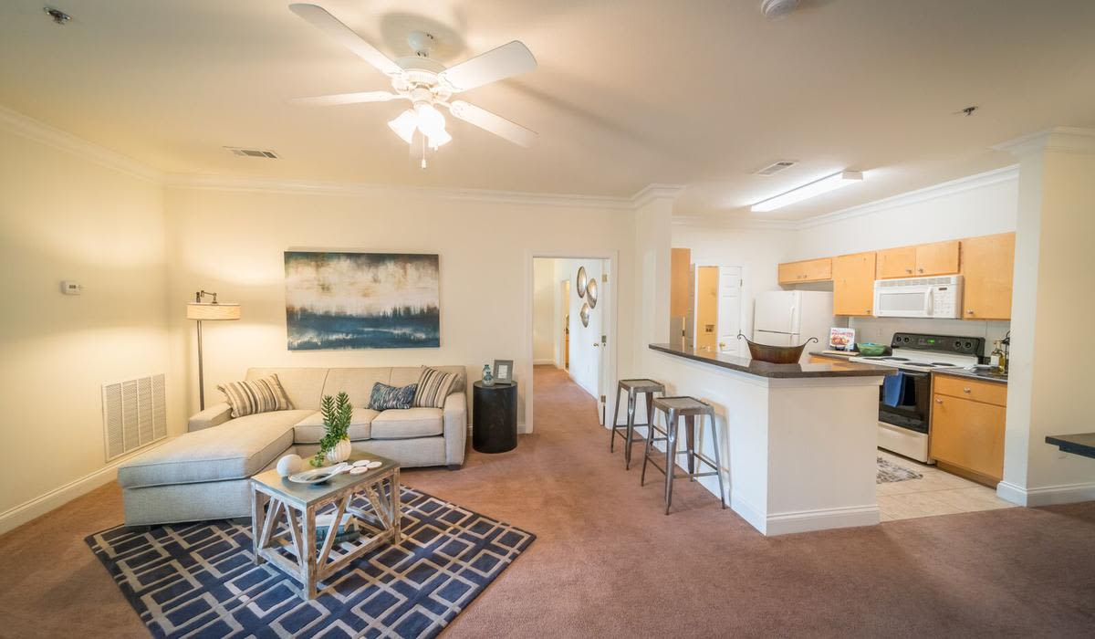 Beautiful living room at Northwind Apartments in Valdosta, Georgia