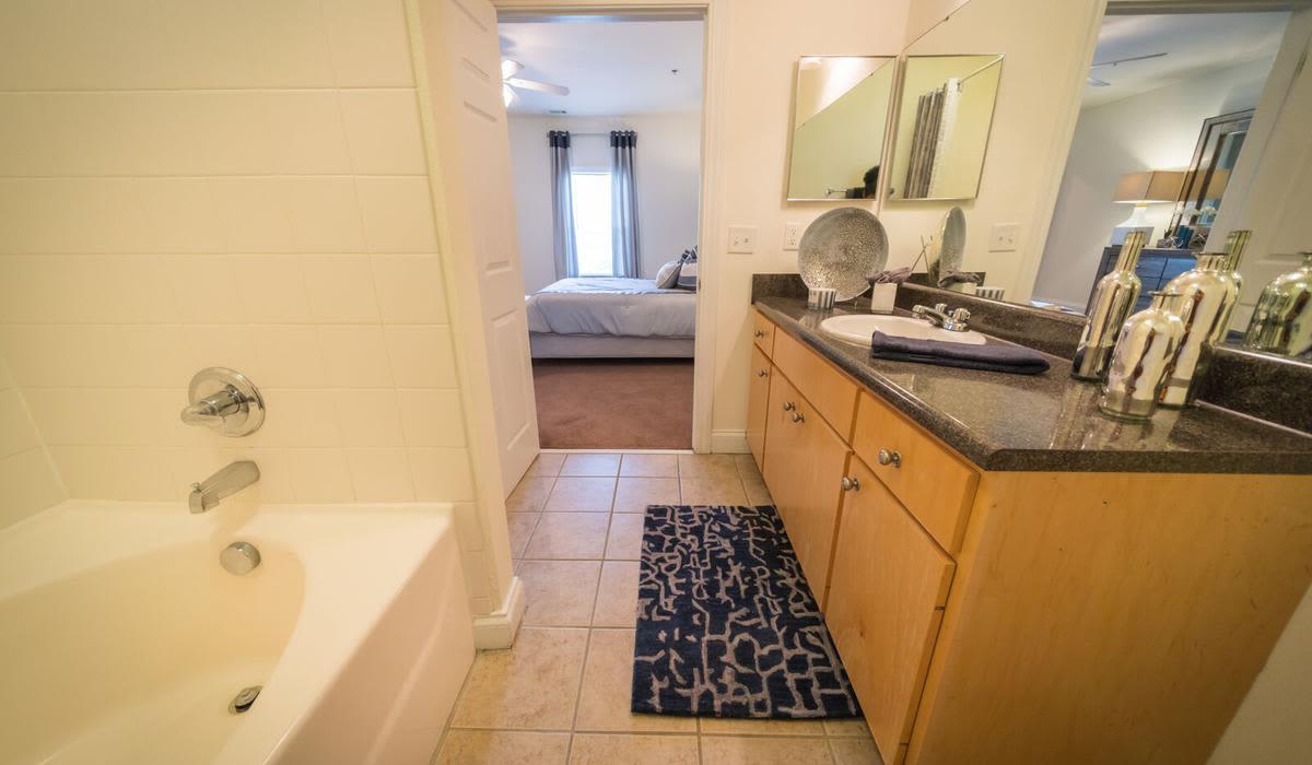 Bathroom at Northwind Apartments in Valdosta, Georgia