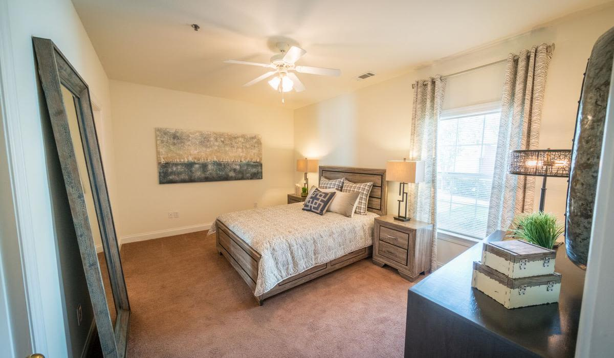Beautiful bedroom at Northwind Apartments in Valdosta, Georgia