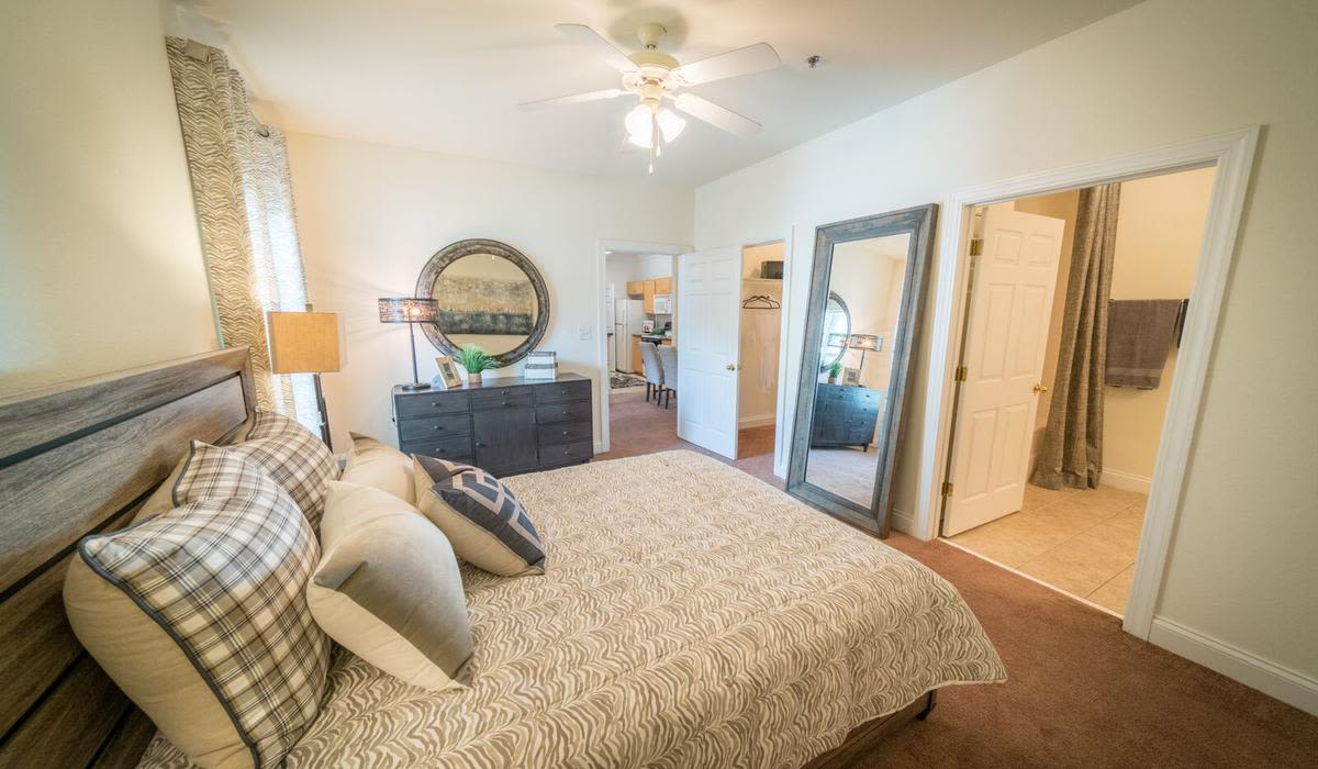 Spacious bedroom at Northwind Apartments in Valdosta, Georgia