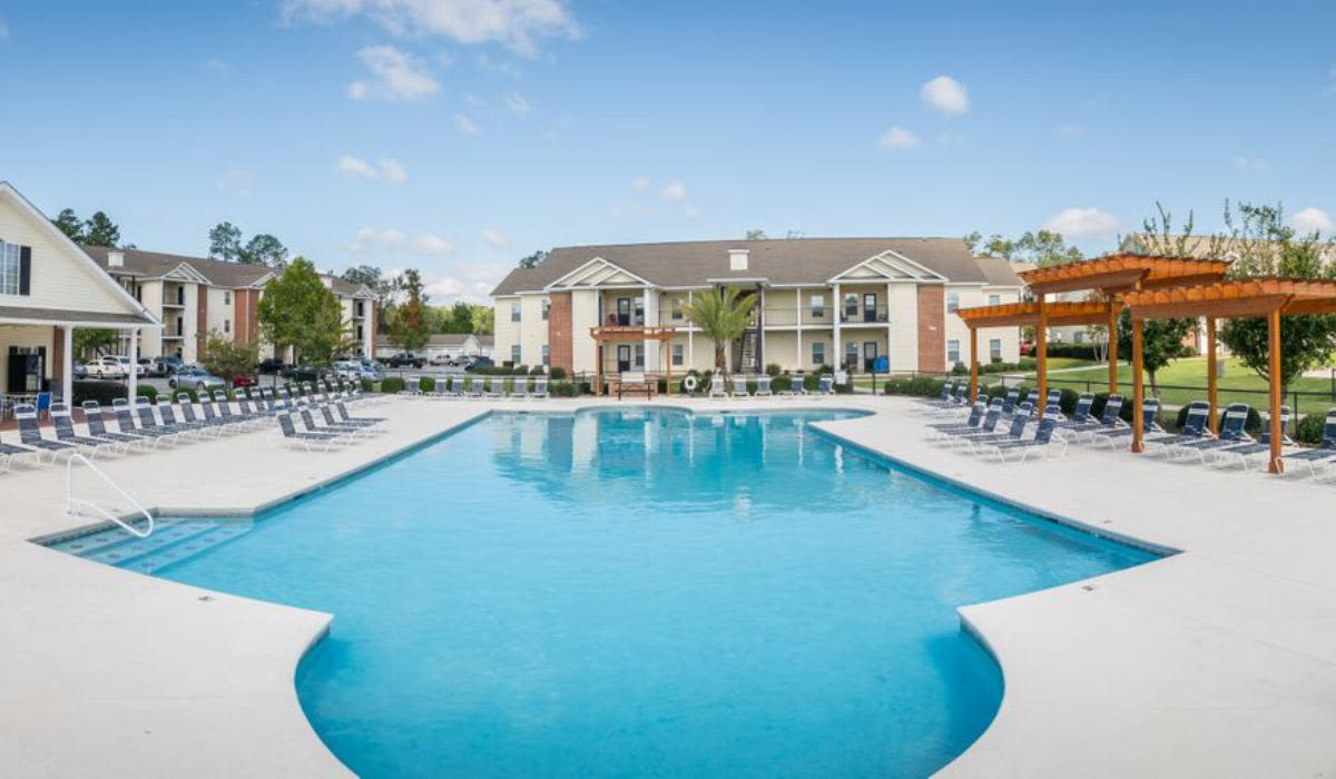 Beautiful swimming pool at Northwind Apartments in Valdosta, Georgia