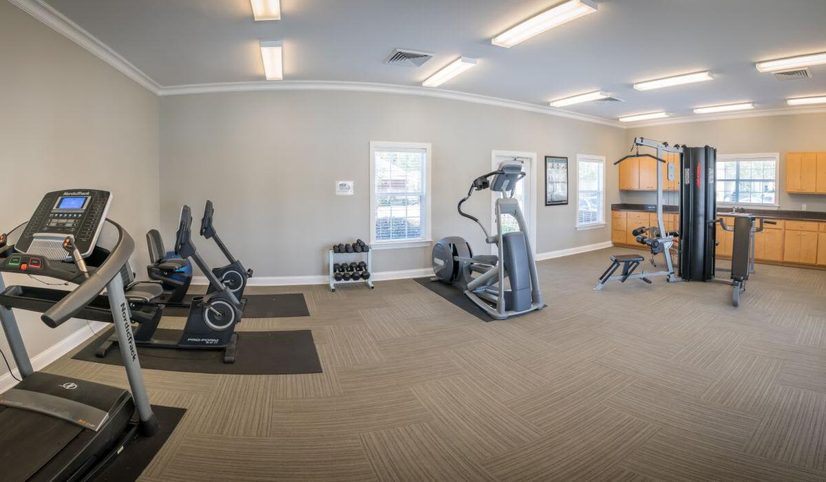 Modern fitness center at Northwind Apartments in Valdosta, Georgia