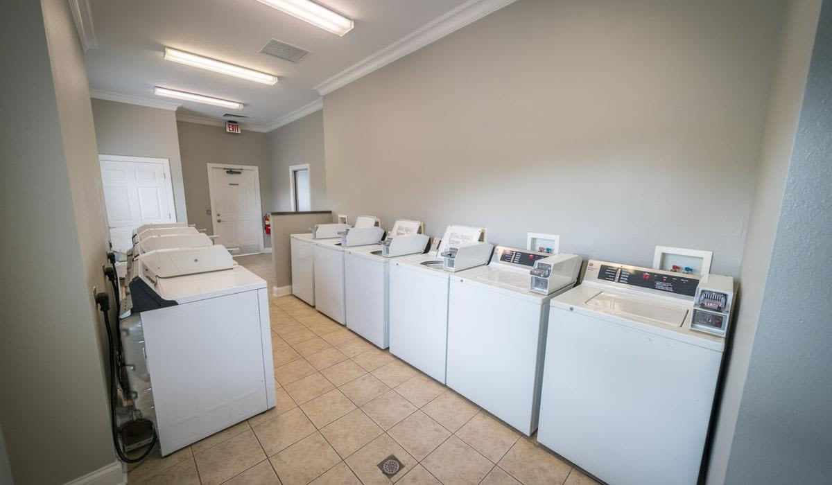 Laundry facility at Northwind Apartments in Valdosta, Georgia