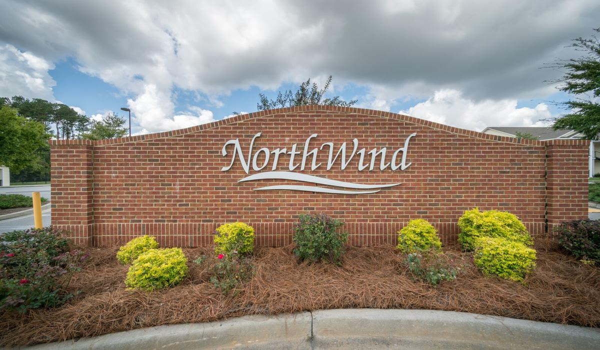 Entrance Sign at Northwind Apartments in Valdosta, GA