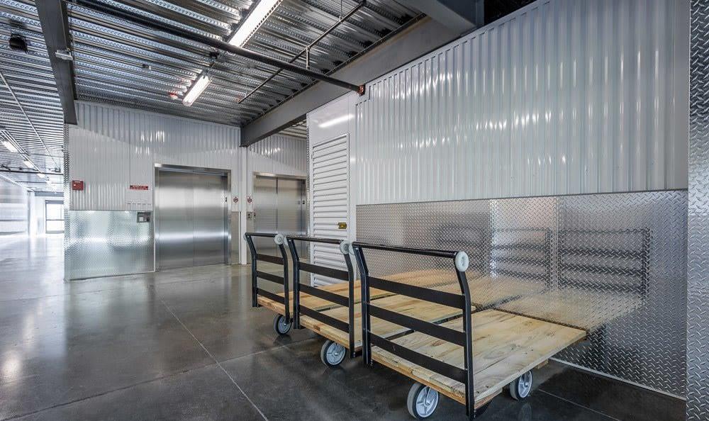 Moving Carts at Clock Tower Self Storage - Lake Stevens in Lake Stevens, WA