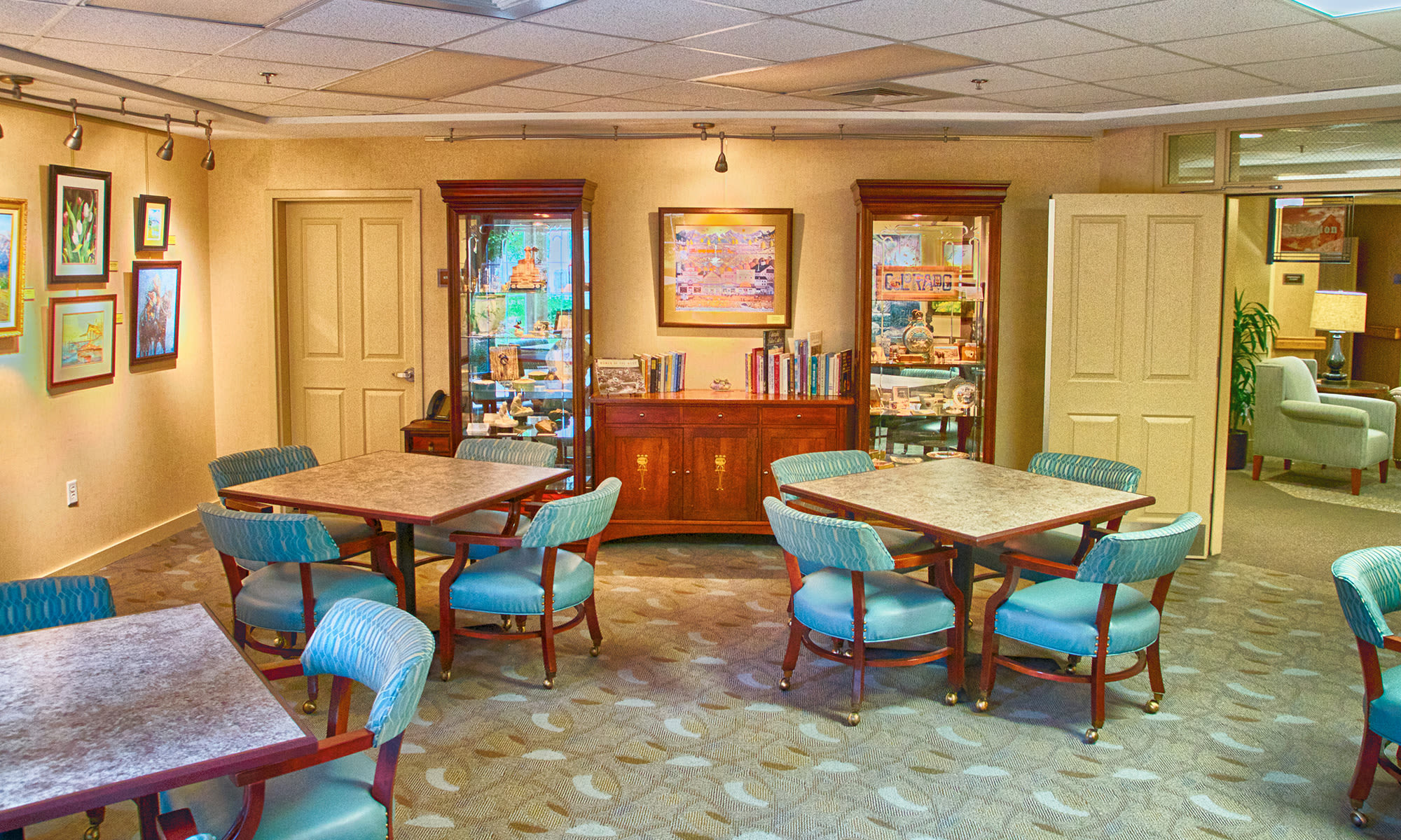 game room at Holly Creek Retirement Community