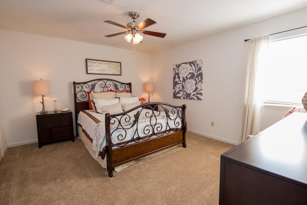 Bedroom at The Mark Apartments in Ridgeland, Mississippi