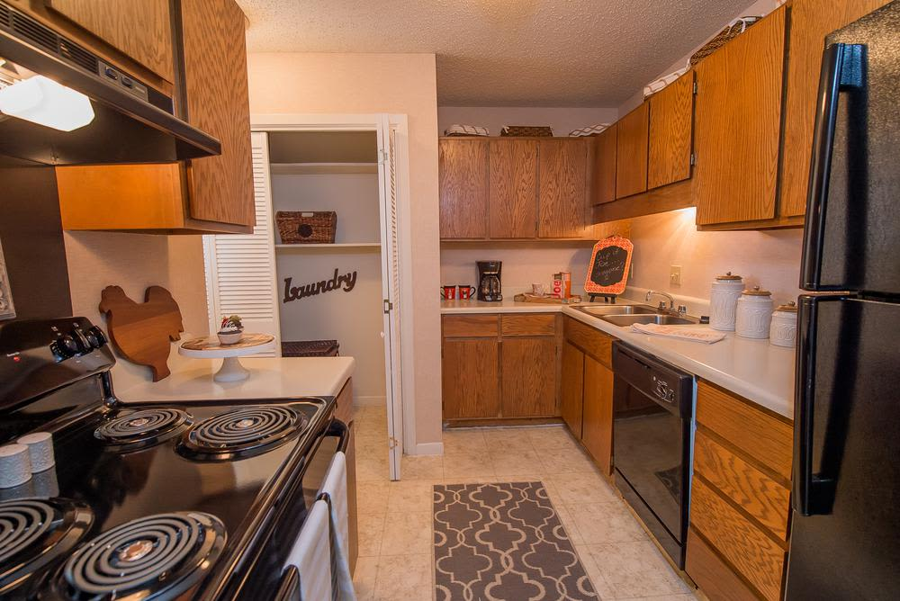 Modern kitchen at The Mark Apartments in Ridgeland, Mississippi