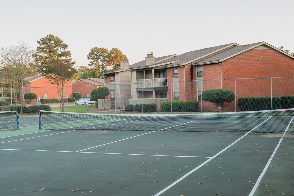 Tennis courts at