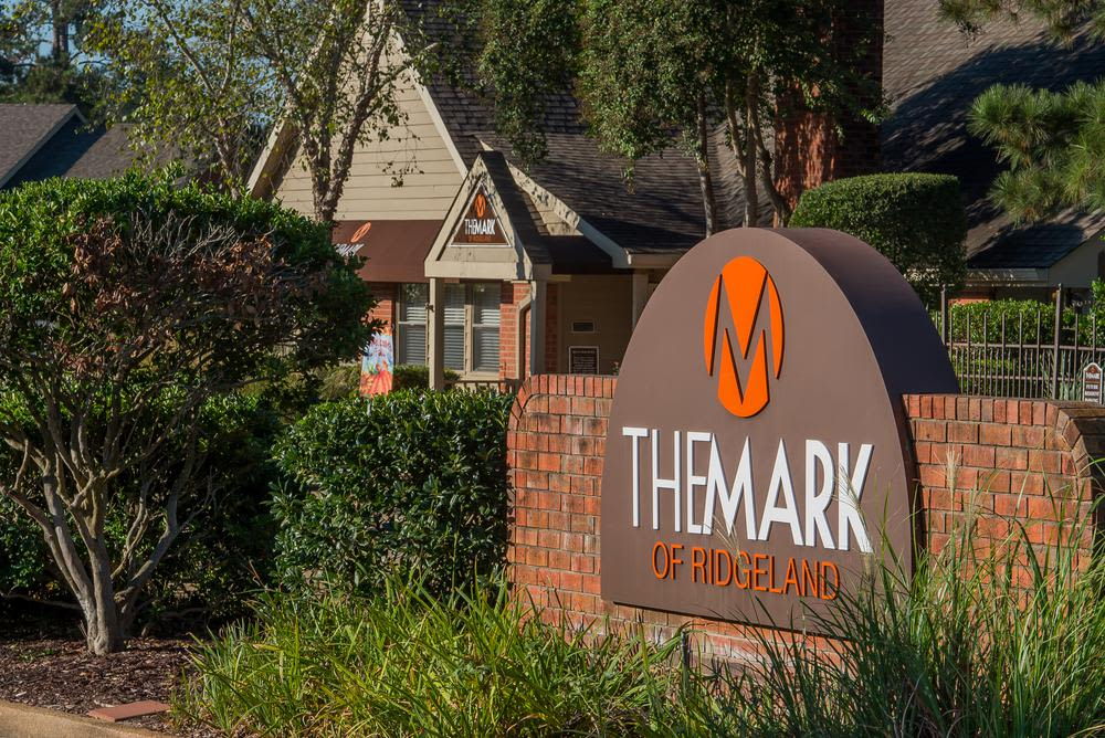 Signage at The Mark Apartments
