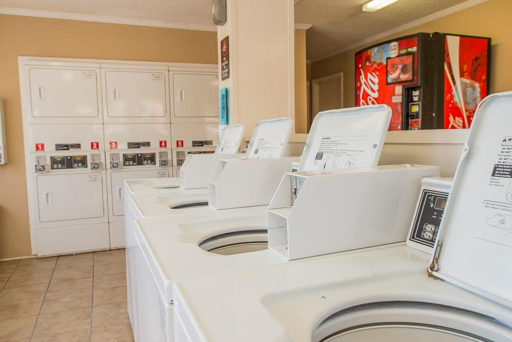 Modern laundry at The Mark Apartments