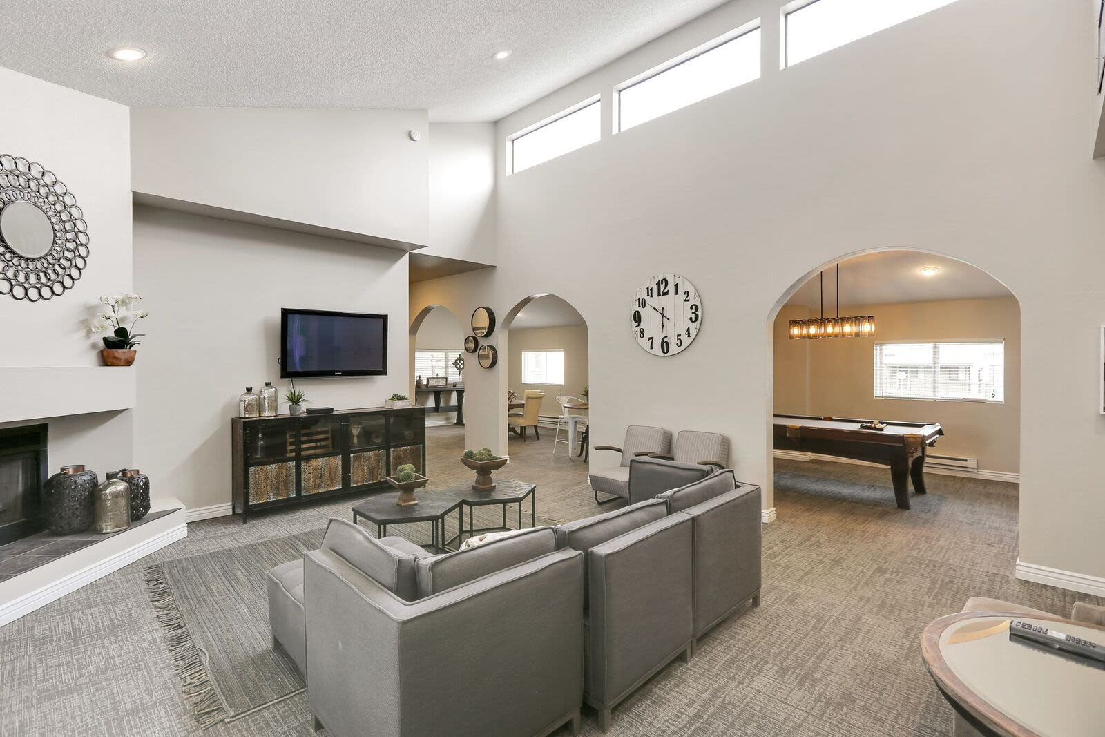 Beautiful clubhouse at apartments in Layton, Utah