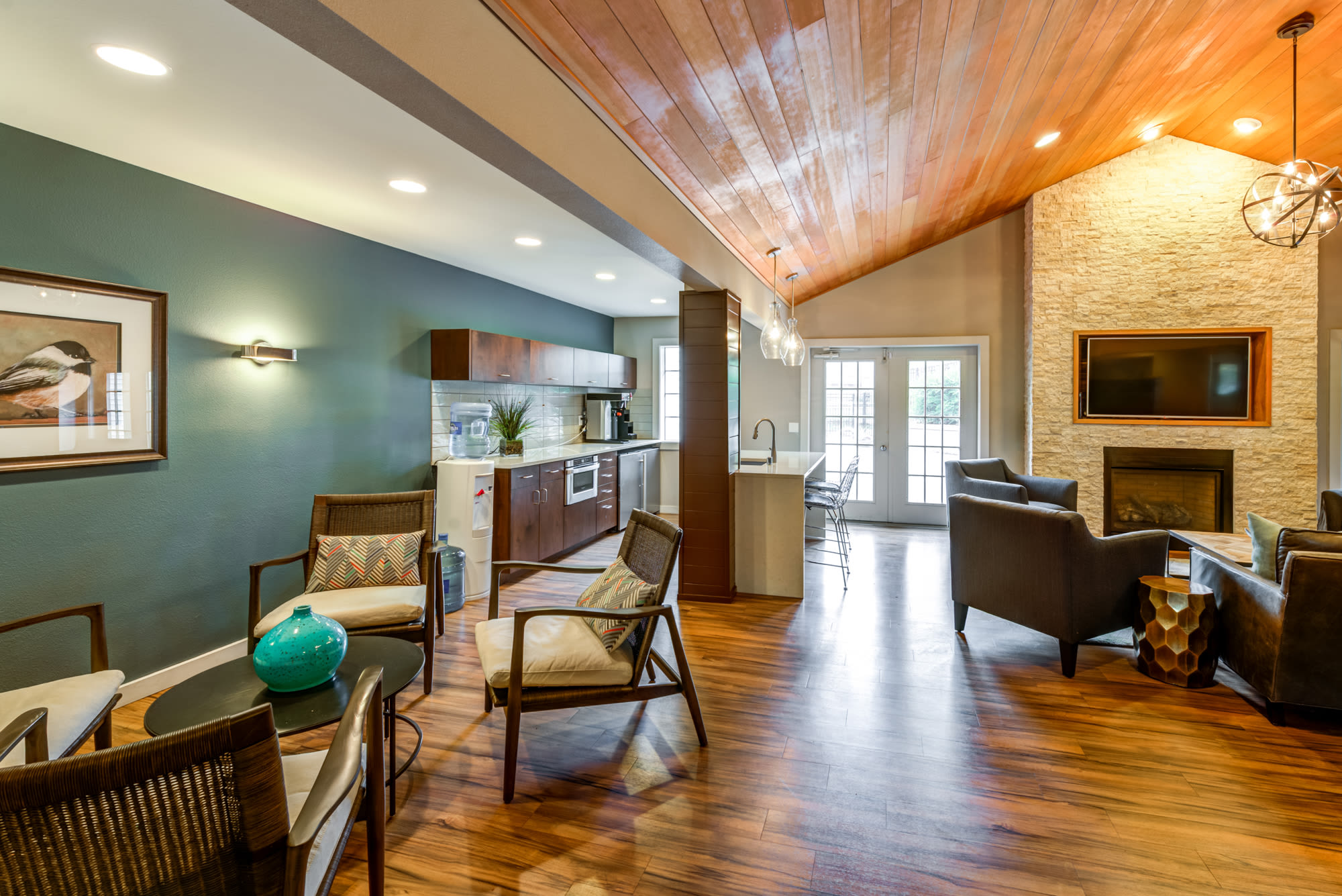 Resident Lounge at Olin Fields Apartments in Everett