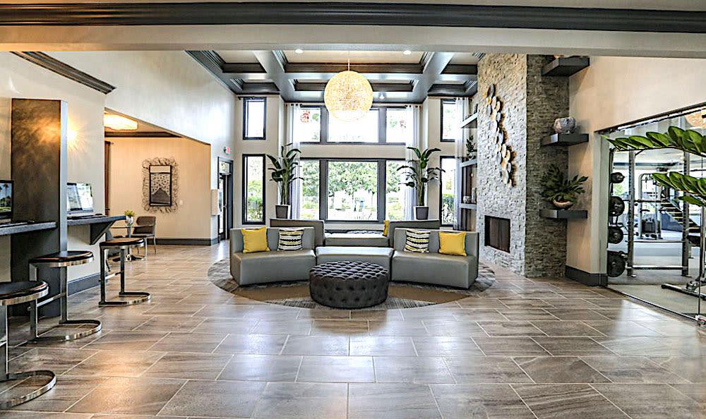 Entrance lobby at Palms at Clear Lake