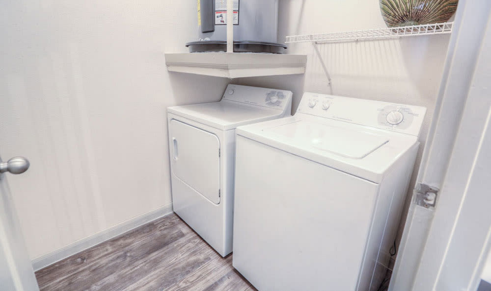 In-unit washer and dryer at Palms at Clear Lake