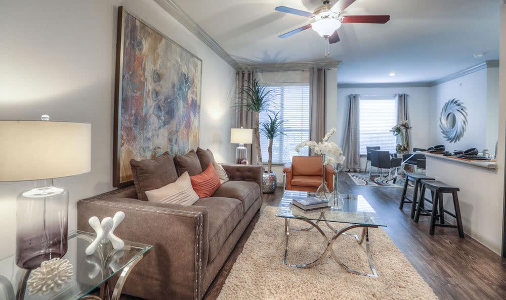 Living room at Palms at Clear Lake
