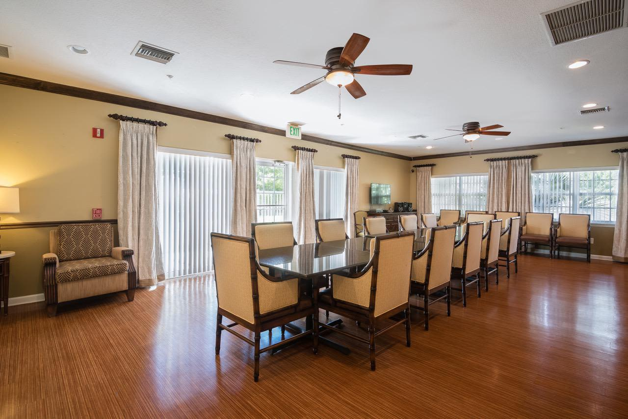 Beautiful dining room at  Greenacres, Florida