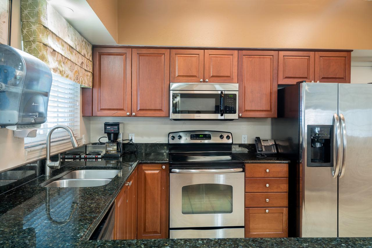 Kitchen at Pacifica Senior Living Palm Beach in Greenacres, Florida