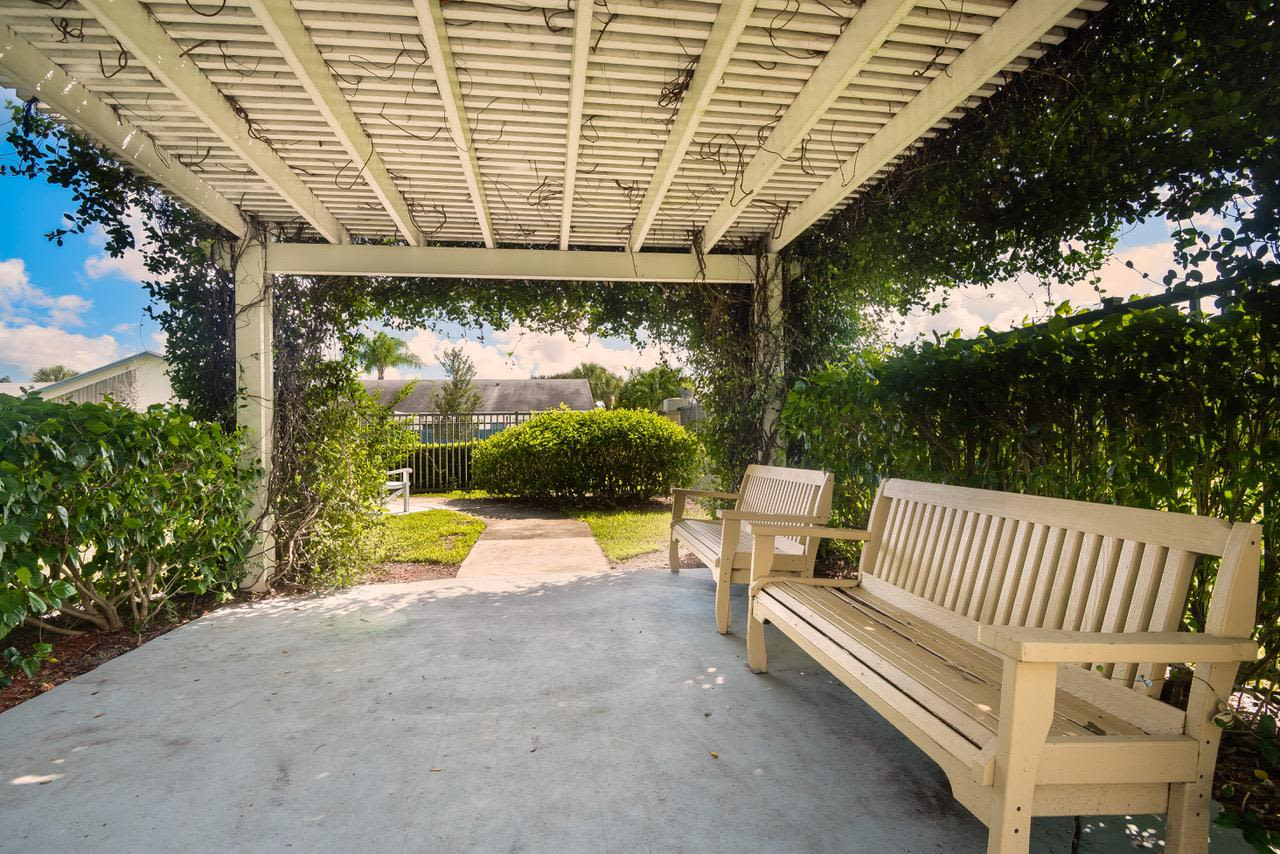 Patio at our senior living facility in Greenacres, Florida