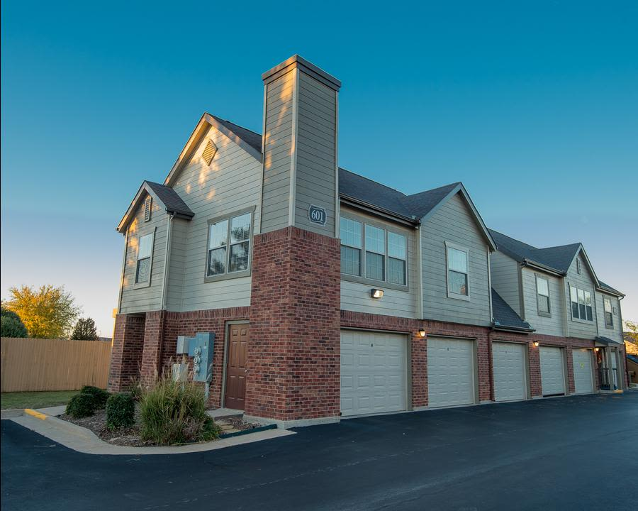Garages at our Owasso apartments