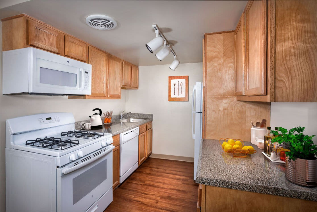 Open floor plan space at Park Naylor Apartments in Washington