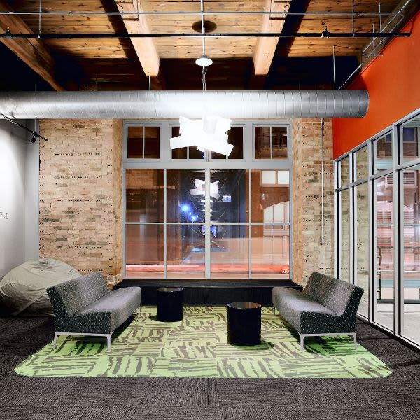 Community Room and Lounge at The Automatic Lofts in Chicago, Illinois