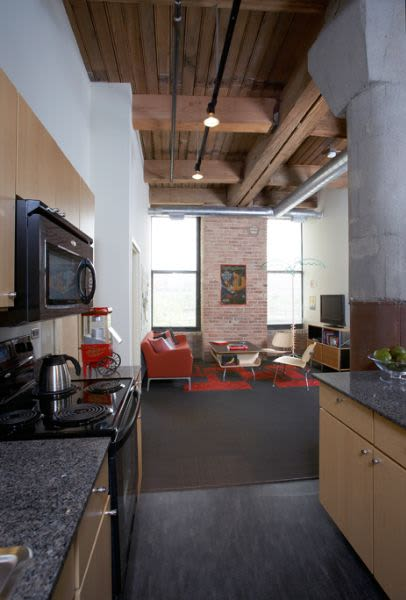 Loft style floor plan at The Automatic Lofts in Chicago, Illinois