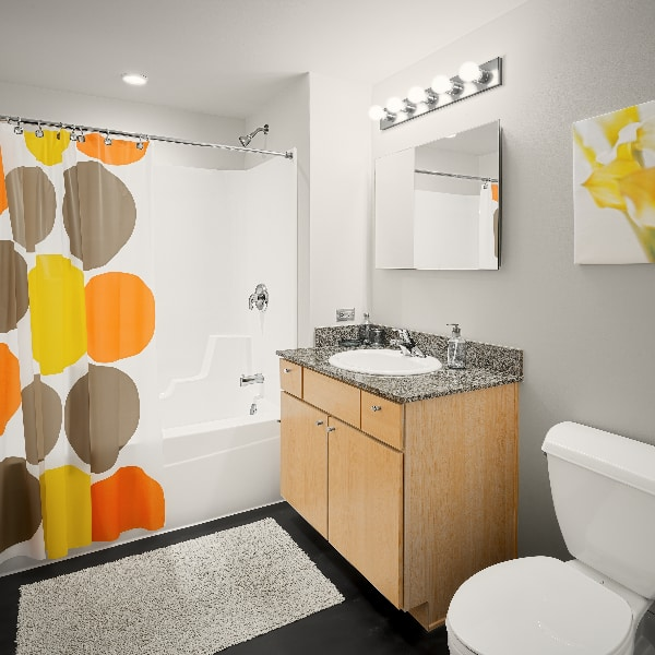 Bathroom at The Automatic Lofts in Chicago, Illinois