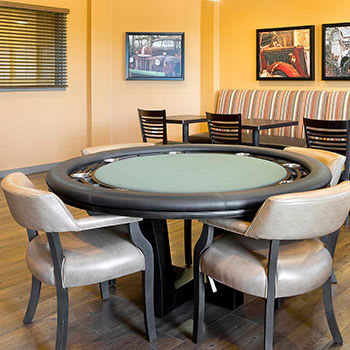 Affinity at Bellingham poker table
