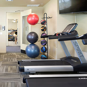 fully equipped gym at Affinity at Monterrey Village