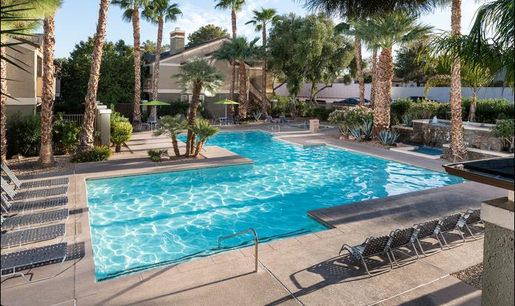 Swimming pool at Crossing At Green Valley in Henderson, NV