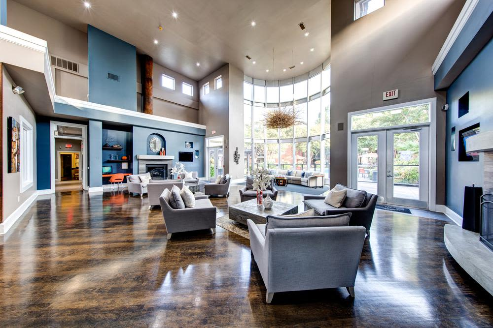 Large clubhouse foyer at Marquis on Gaston