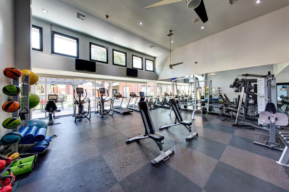 The fitness center at Marquis on Gaston