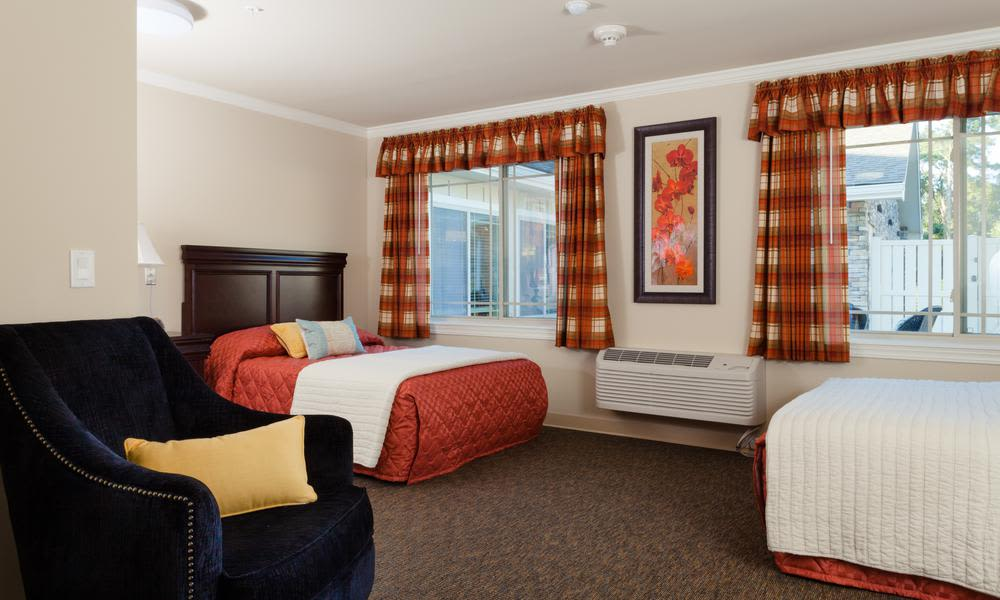 View of the bedroom - in model home at Sage Park Alzheimer's Special Care Center
