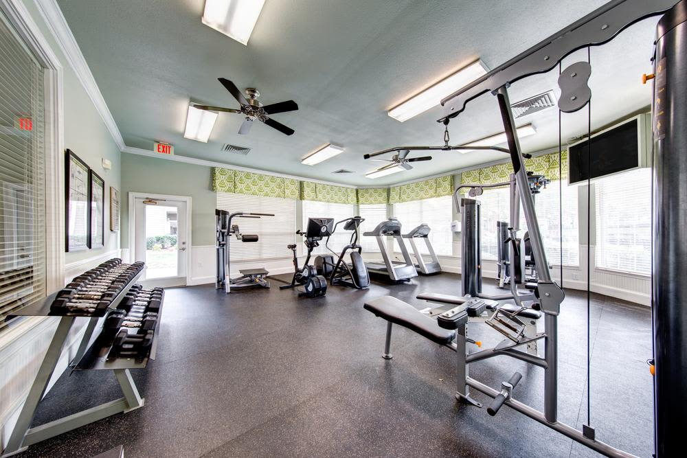 Fitness center at Marquis at Carmel Commons in Charlotte, Marquis at Carmel Commons