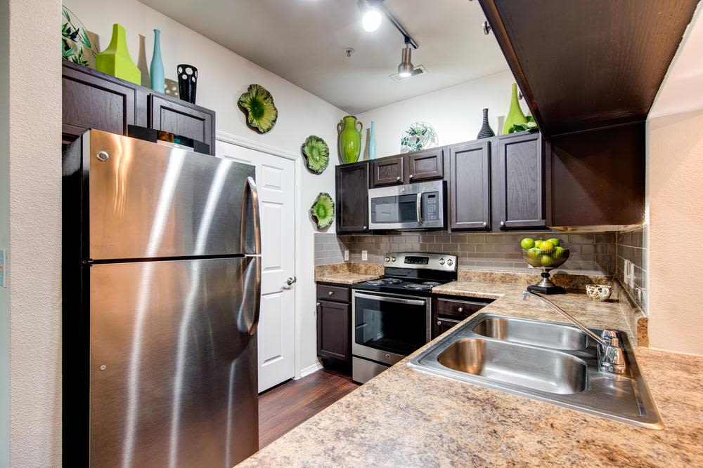 Model kitchen at Marquis of Carmel Valley