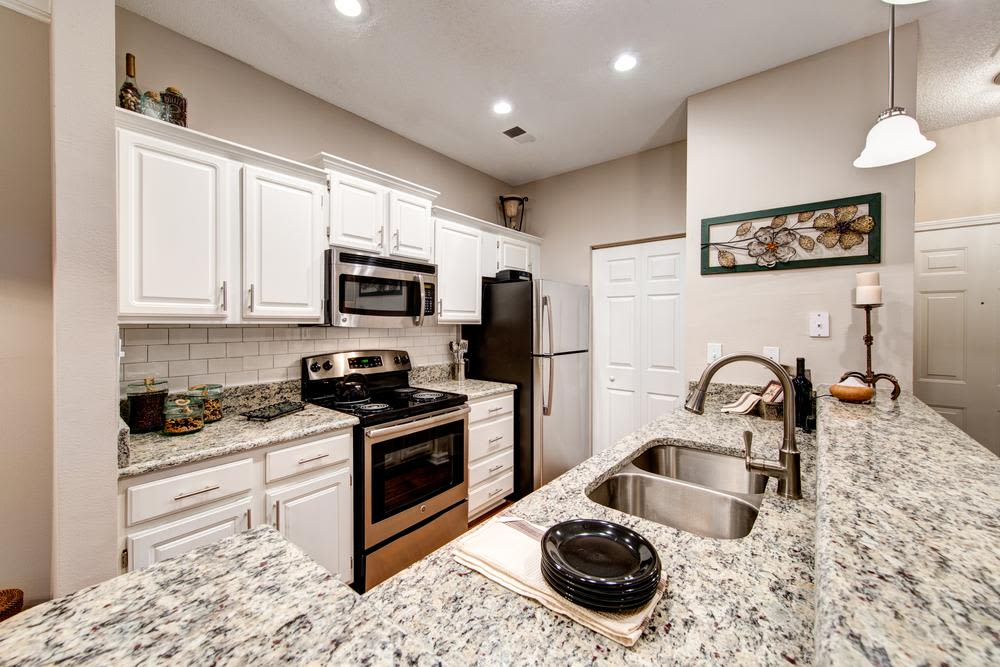 Ample storage in the kitchens on The Preserve at Ballantyne Commons