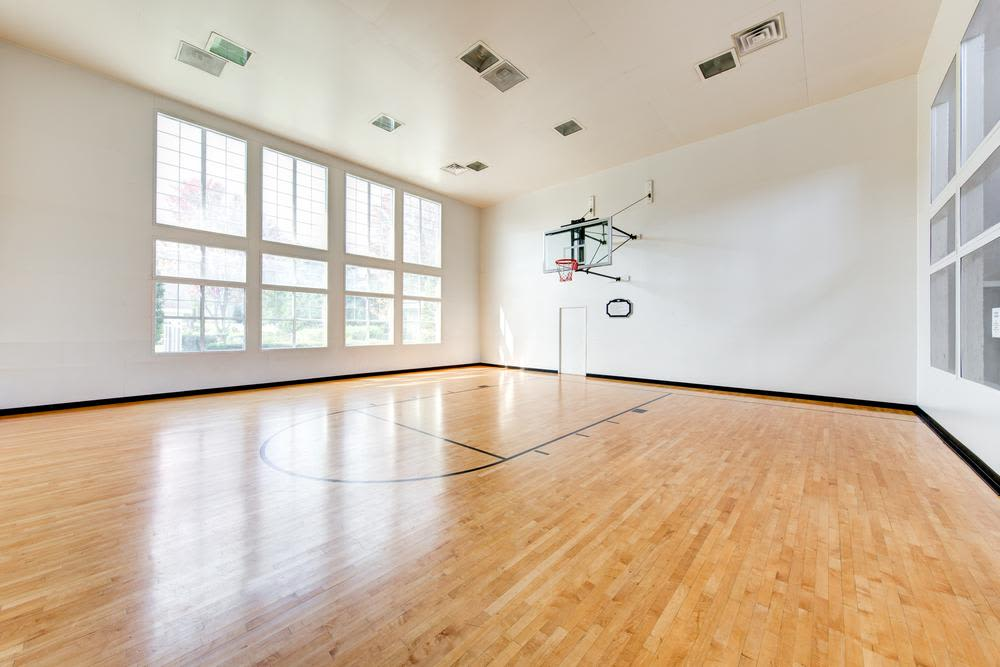 Indoor basketball court at The Preserve at Ballantyne Commons