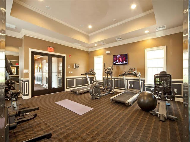 Fitness center at Presidential Place in Lebanon, New Jersey