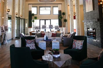 Grand lobby at apartments in Fredericksburg