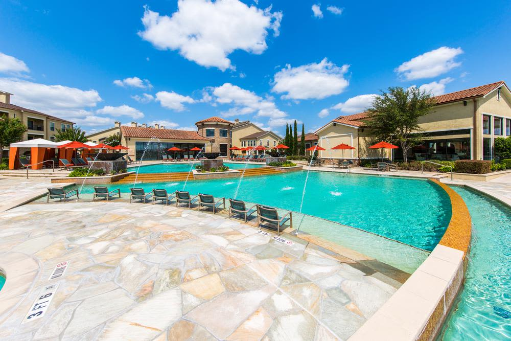 large swimming pool at Marquis at the Reserve in Katy, TX