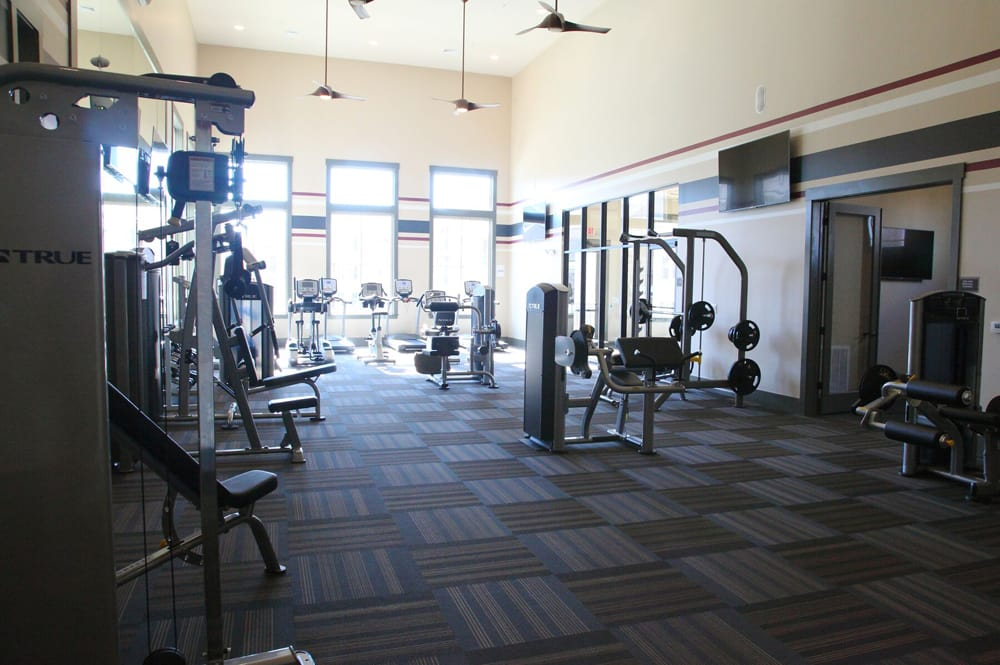Fully equipped fitness center at Silver Collection at Celebrate