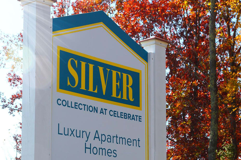 Front sign at Silver Collection at Celebrate