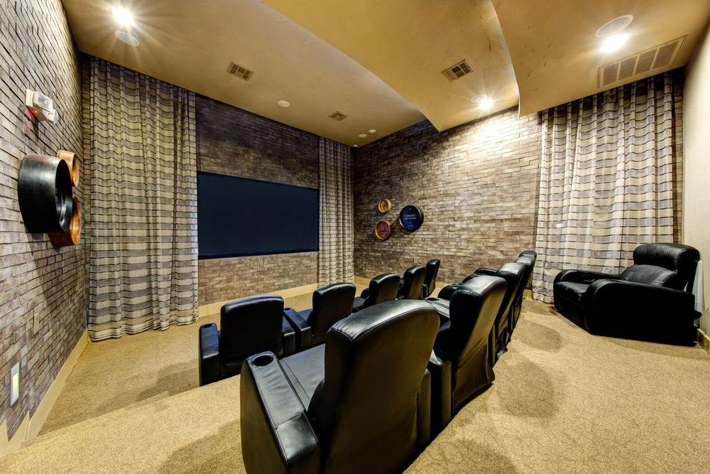 home theater at Marquis at the Reserve in Katy, TX