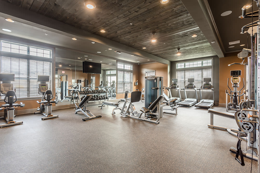 Fitness center at GrandeVille at Malta in Malta, NY