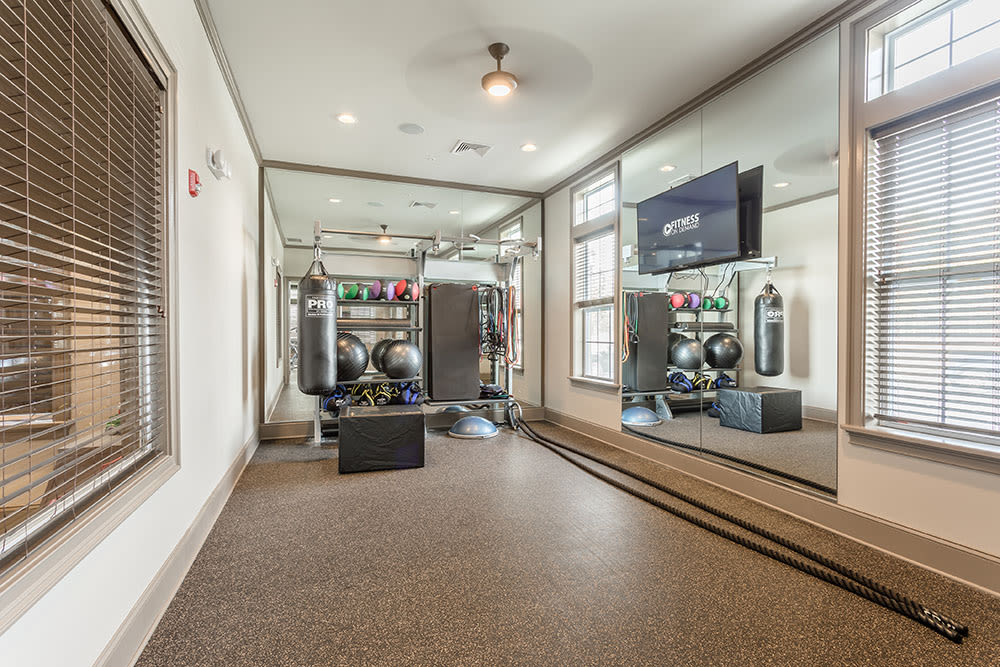 Fitness room at GrandeVille at Malta in Malta, NY