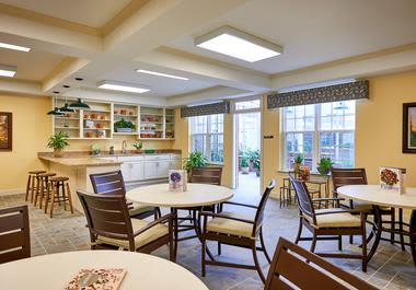 Elegant dinning area at Waltonwood at Ashburn in Ashburn, VA
