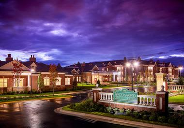 Night view atWaltonwood at Ashburn in Ashburn, VA