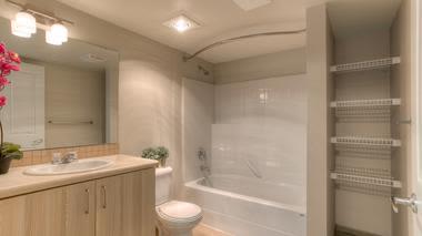 Spacious bathroom  at Altitude Apartments