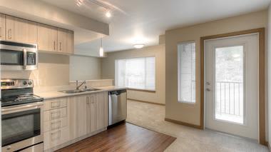 Our apartments in Renton, Washington showcase a luxury kitchen